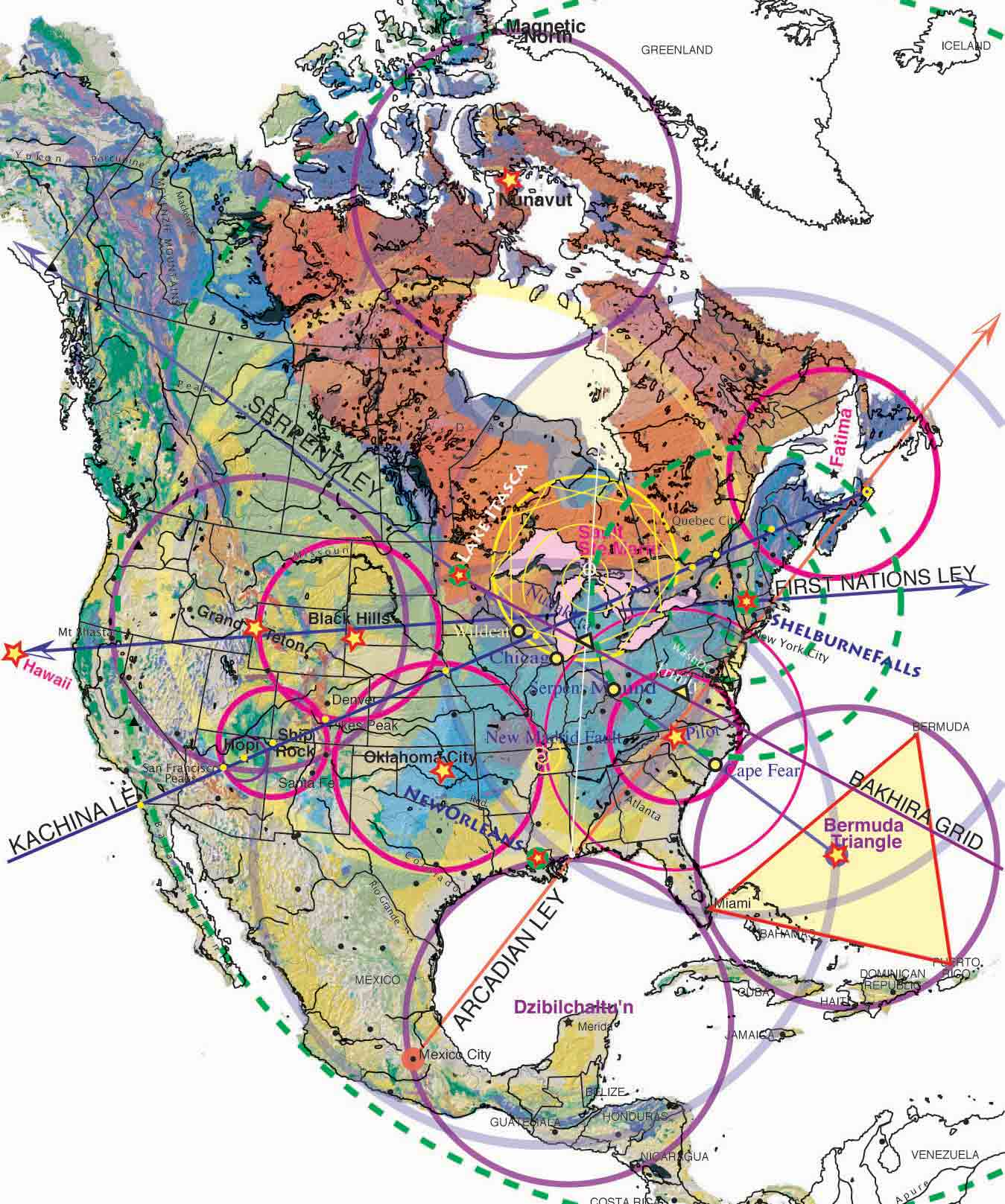 Geology Patterns North America